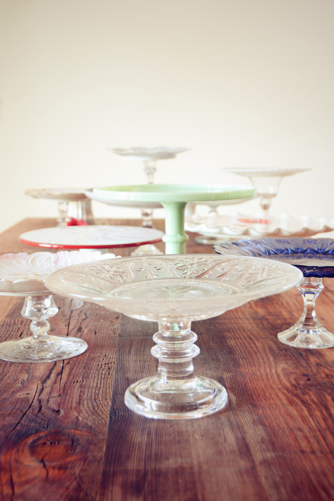 Antique Cake Stands Colored Glass And Porcelain Stardust