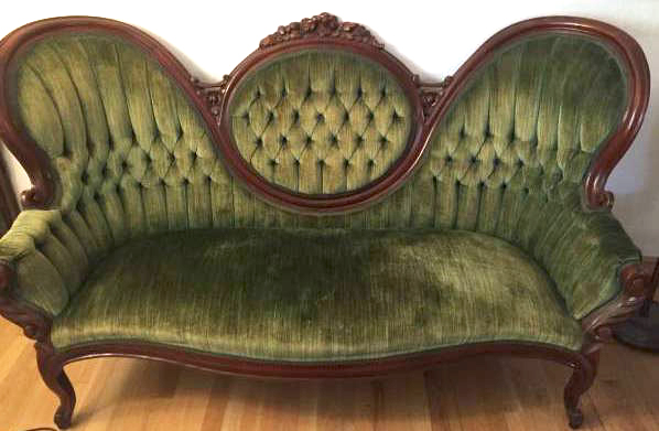Tufted Sage Green Velvet Sofa 6