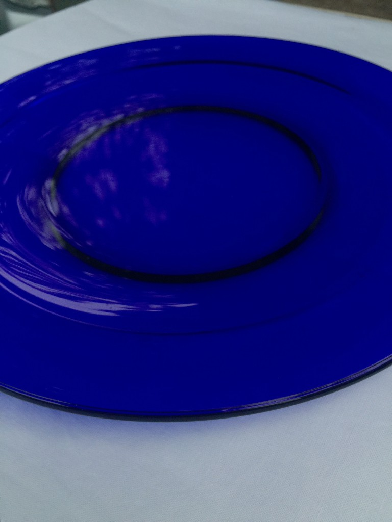 Dinner Plates Cobalt Blue Glass Stardust