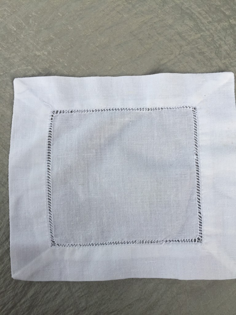 cocktail napkin irish linen hemstitch napkins