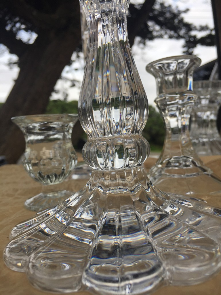 crystal candlesticks rental for wedding table