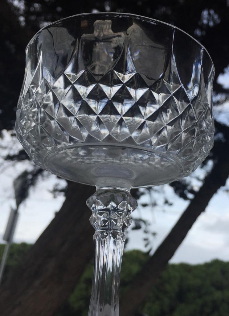 crystal champagne goblet